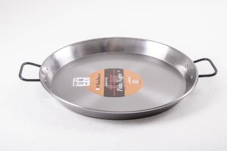 Poêle à paella acier poli pour induction 42 cm