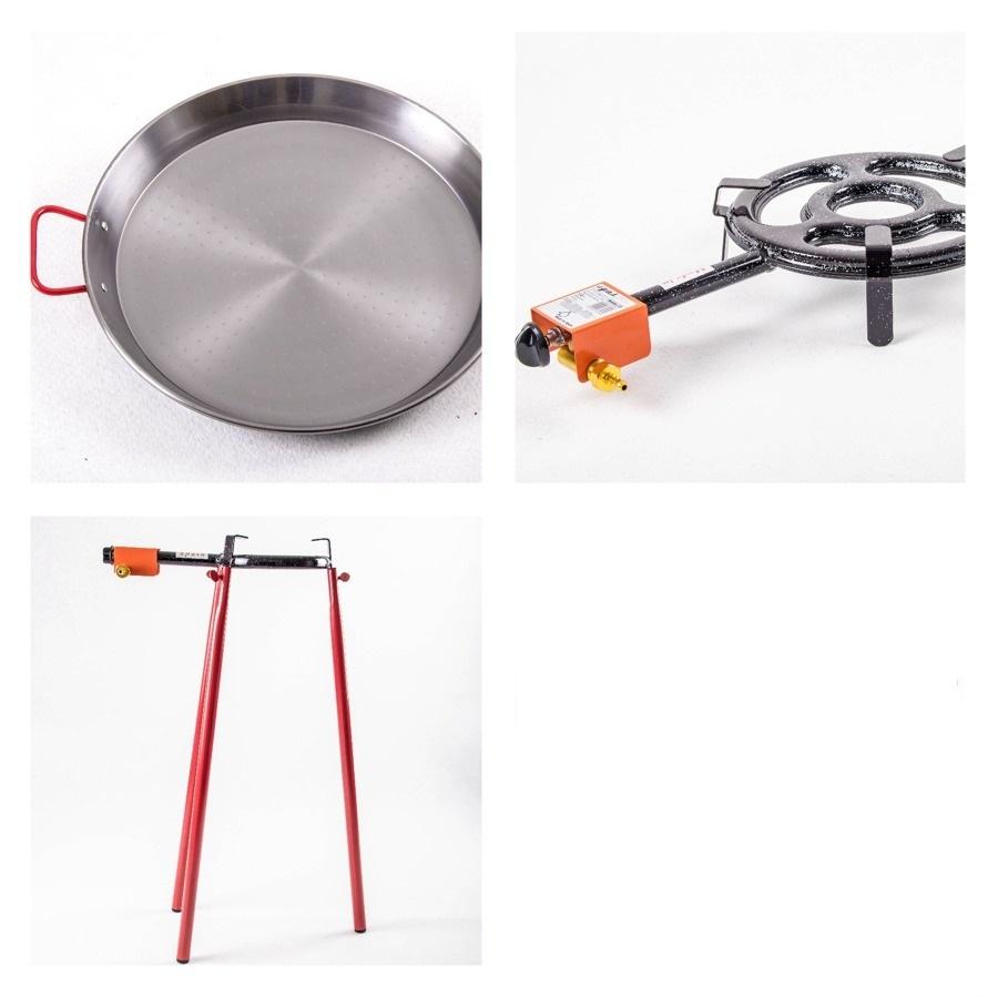 Kit à Paella pro acier pour 14 personnes