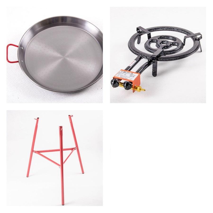 Kit à Paella pro acier pour 22 personnes