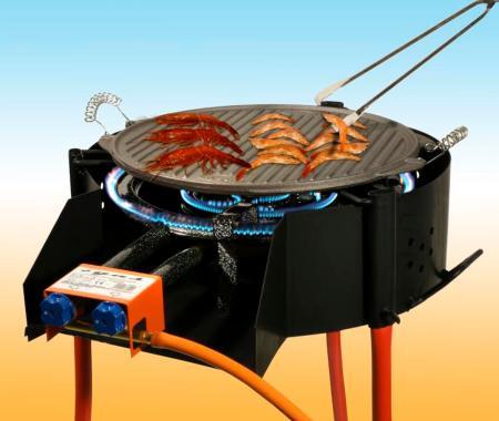 Barbecue à Gaz, charbon et bois Garcima 40cm