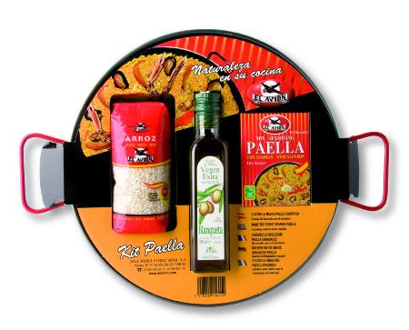 Kit à Paella acier poli pour 6 personnes