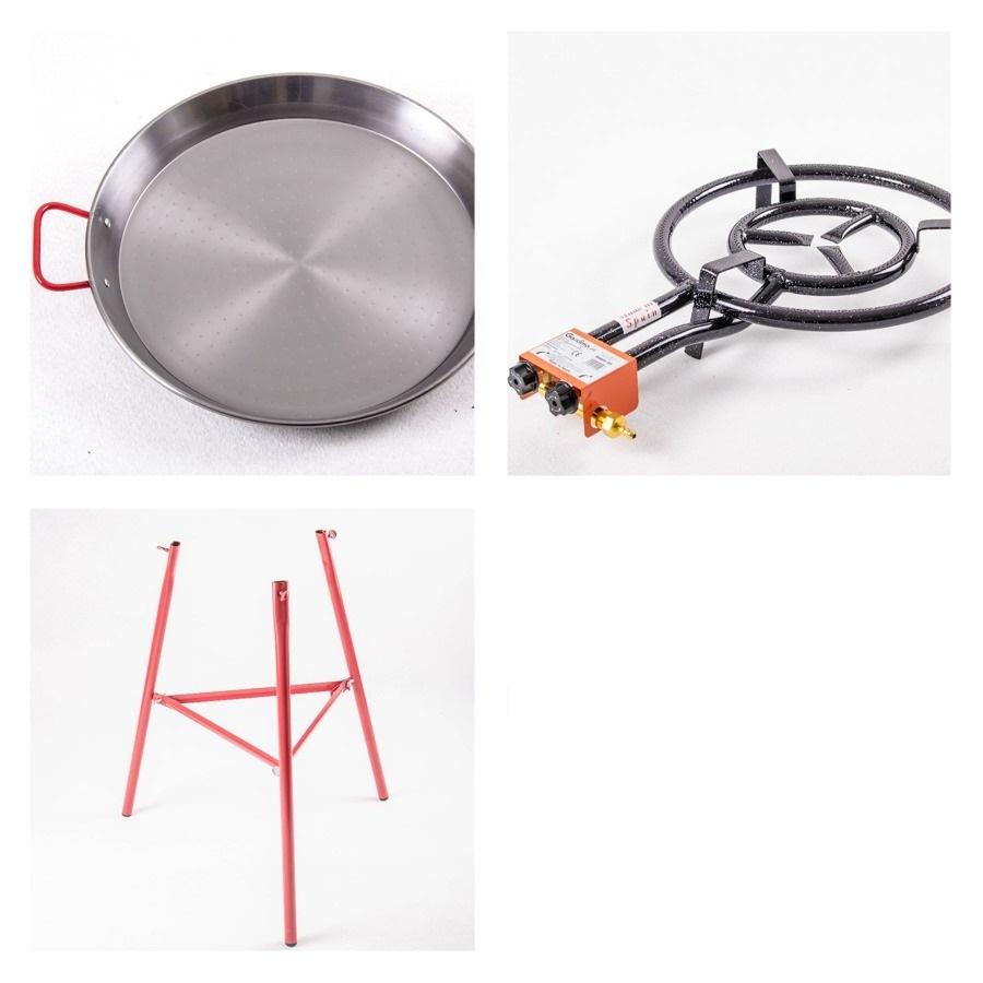 Kit à Paella acier pour 20personnes