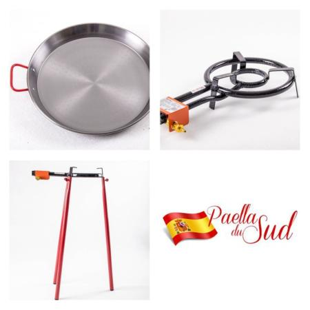 Kit à Paella acier pour 10 personnes