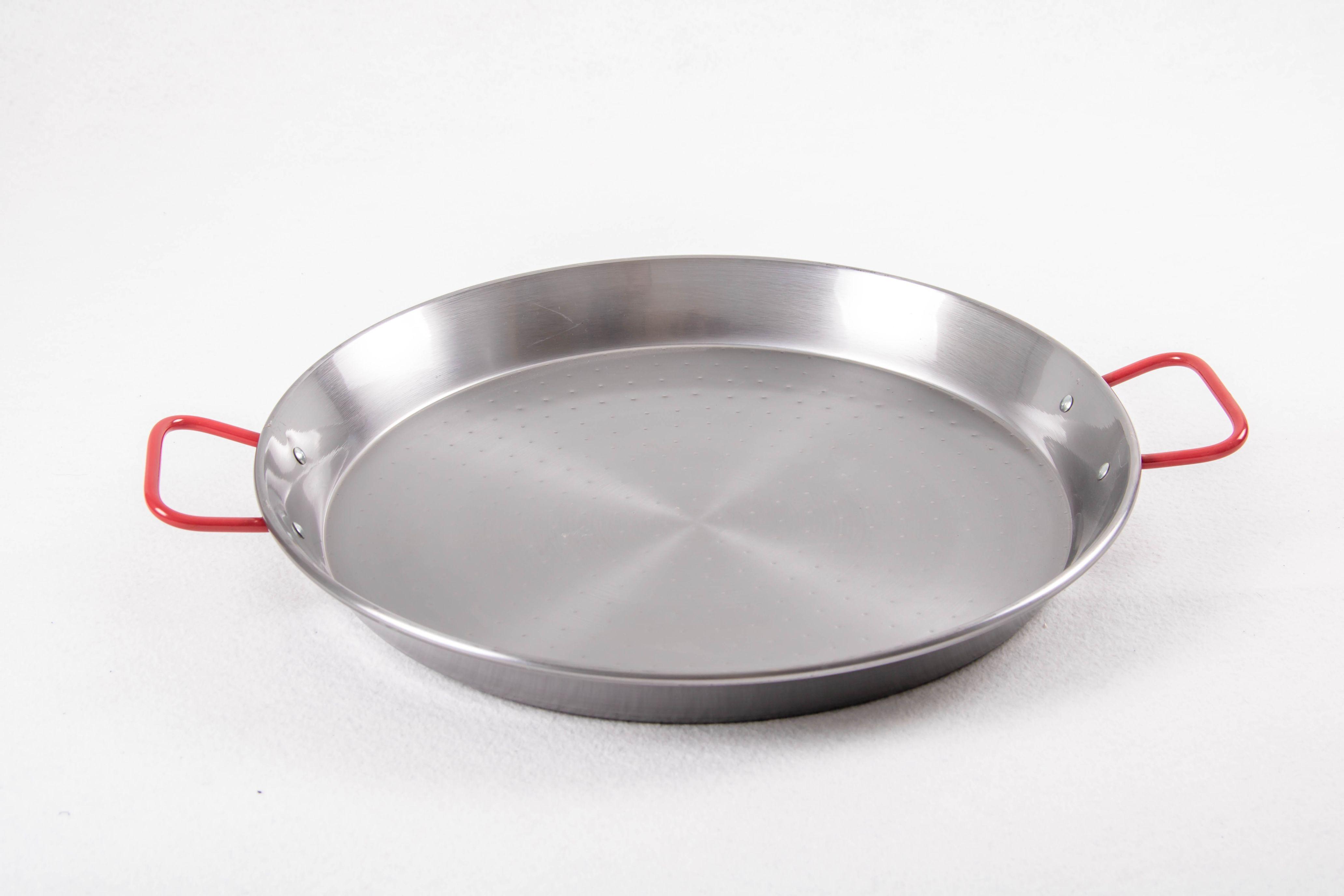 Poêle à paella acier poli 34 cm