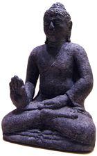 Statuette Bouddha de Borobudur en pierre de lave