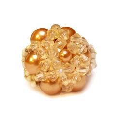 Bague en perles modèle Luna Couleur Champagne