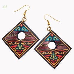 Boucles d'oreilles Originales Visages ethniques artisanales