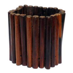Bracelet Original en Bois naturel Bâtonnets cylindriques Style Ethnique