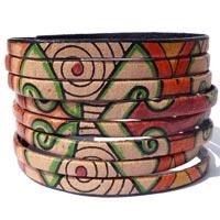 Bracelets cuir et simili cuir mode ethnique en vente dans la boutique en ligne Matajava