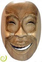 Masque Rieur balinais en bois d'Hibiscus - Artisanat Indonesion - Matajava Créations Originales & Artisanales