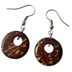 Mini Boucles d'oreille en Noix de Coco