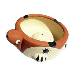 Porte-encens Tortue Marron pour bâtonnets en poterie
