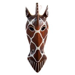 Tête de Girafe en bois pour décoration murale