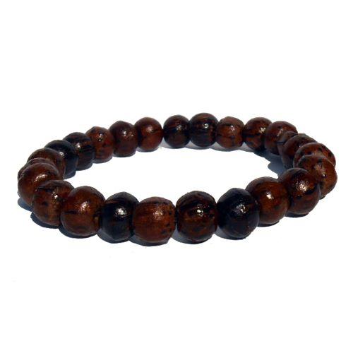 Bracelet perles en bois de palmier coco