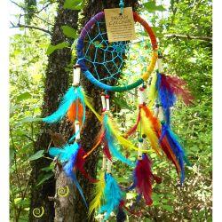 Dreamcatcher Attrape-Rêves Multicolore Perles Os et Bois