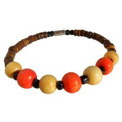Bracelet perles en noix de coco et bois Pour Garçon ou Fille