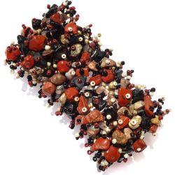 Bracelet perles de rocaille et mélange de pierres jaspes naturelles