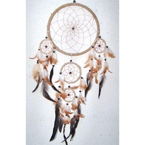 Dreamcatcher Attrape-Rêves Corde Végétale et Plumes