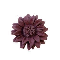 Grosse Bague Fleur en cuir couleur Marron taille ajustable Artisanat de Bali