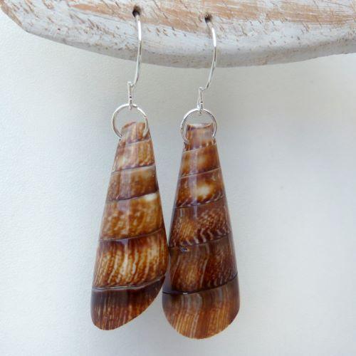 Boucles d'oreilles Originales Coquillages Cônes artisanales
