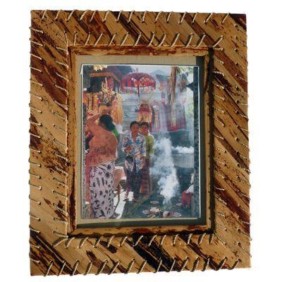 Grand Cadre photo original Artisanat en bambou