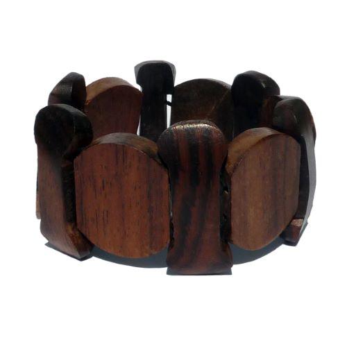Bracelet en bois artisanal forme originale