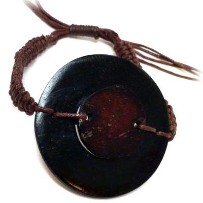 Bracelet original en os noir et marron