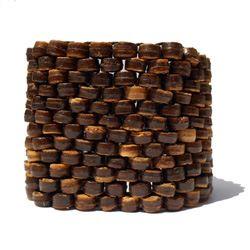Bracelet élastique tissage de perles en noix de coco