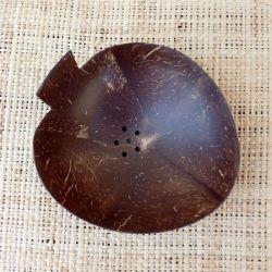 Porte savon en noix de coco en forme de pomme