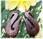 Boucles d'oreilles en bois, originales, ethniques, bois naturel ou teinté
