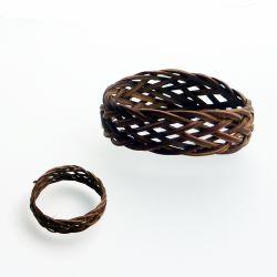 Bague Ndani anneau en fibres naturelles de rotin tressé