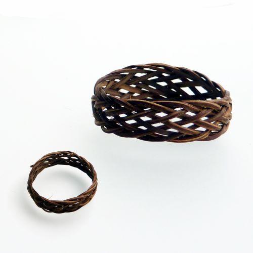 Bague Asmat anneau en fibres naturelles de rotin tressé