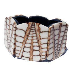 Bracelet Coquillage et résine blanche