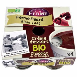 CRÈME DESSERT CHOCOLAT <BR>4 pots de 100 g