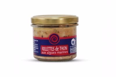 RILLETTES DE THON AUX ALGUES MARINES.<BR> Pot de 100 g.