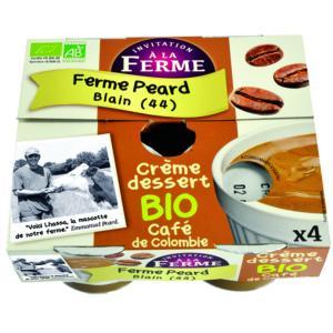 CRÈME DESSERT CAFE DE COLOMBIE<BR> 4  pots de 100 g