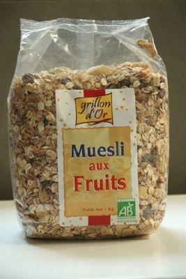 MUESLI  AUX FRUITS . 1 Kg.