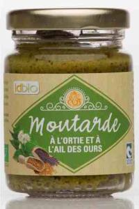 Moutarde à l'ortie et à l'ail ses ours. Pot de 90 g
