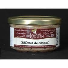 RILLETTES DE CANARD. <BR>Pot de 120 g.