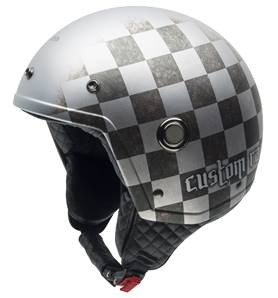 NZI - Casque Moto, Scooter Demi-Jet - TONUP GRAPHICS - Multicolore Mat