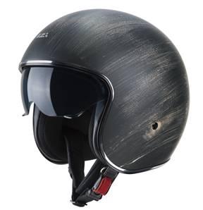 NZI - Casque Moto, Scooter Jet - ROLLING3 SUN GRAPHICS - Noir Oxyde