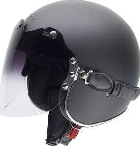 NZI - Casque Moto, Scooter Jet - ROLLING3 DUO - Noir mat