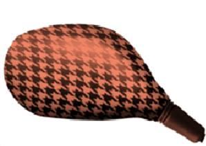 Housse rétroviseur scooter pied de poule rouge ovale