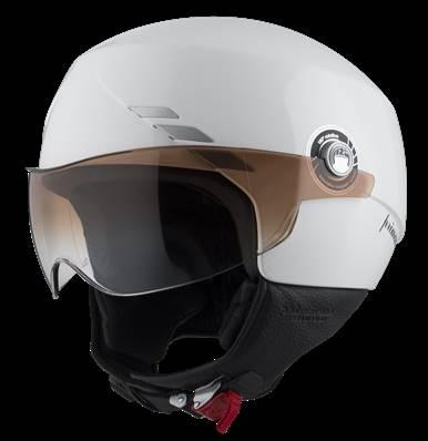 NZI - Casque Moto, Scooter Demi-Jet - PRIMAVERA - Blanc brillant