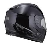NZI - Casque Moto, Scooter Intégral - FUSION - Noir Brillant
