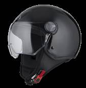 NZI - Casque Moto, Scooter Demi-Jet - CAPITAL VISION - Noir Brillant