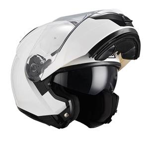 NZI - Casque Moto, Scooter Modulable - COMBI2 DUO - Blanc brillant
