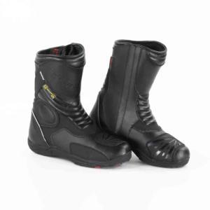 Bottes de Moto Unisexe Rider-Tec Cuir Noir