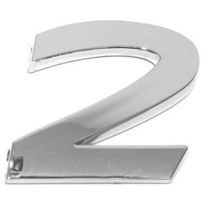 Chiffre ''2'' 3D autocollant chromé