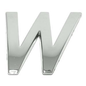 Lettre ''W'' 3D autocollante chromée